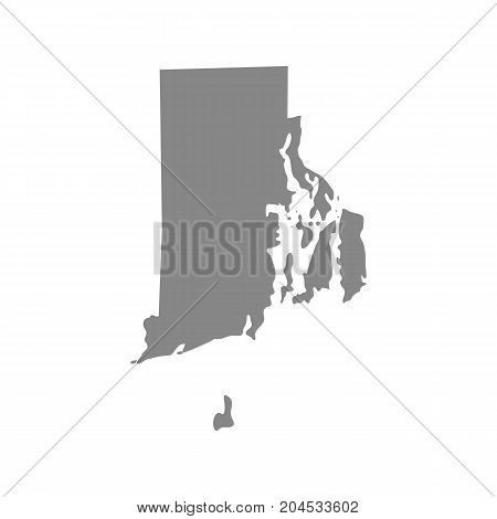 map of the U.S. state of Rhode Island