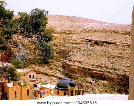 Travel to Israel. Bethlehem Eastern Ortodox Cristian Monastery Saint Sabbas
