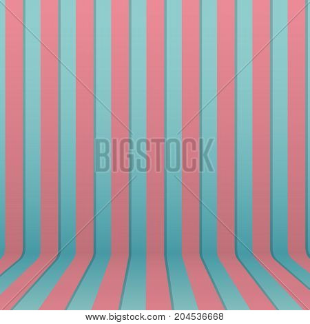 Vector blue and pink striped background. Abstract striped wallpaper.