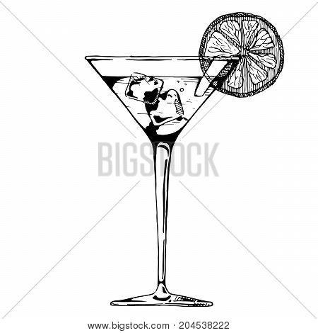 Illustration Of Cocktail Glass