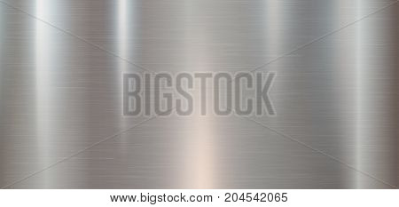 Metal texture background fro your design. Banner Vector illustration