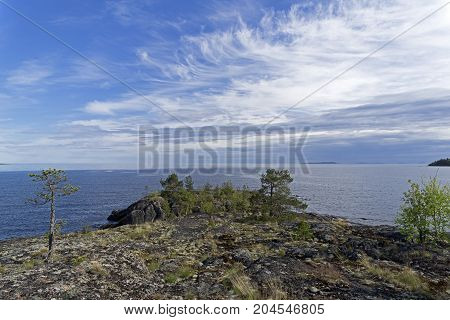 Granite Cape On The Shore Of Lake Ladoga.