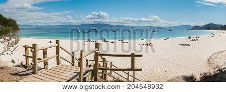 Playa De Rodas On The Cies Islands Of Spain