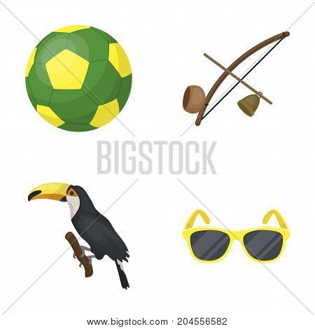 Brazil, country, ball, football . Brazil country set collection icons in cartoon style vector symbol stock illustration .
