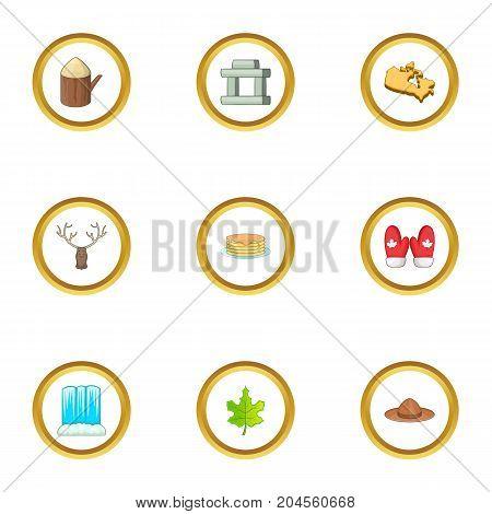 Ottawa icons set. cartoon style set of 9 ottawa vector icons for web design