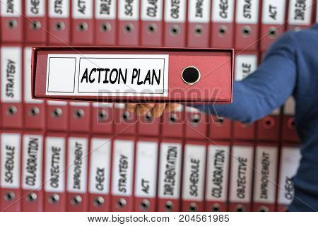 Action Plan Concept. Action Plan Strategy Vision Planning