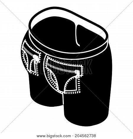 Fashion pocket on back icon. Simple illustration of fashion pocket on back vector icon for web design isolated on white background