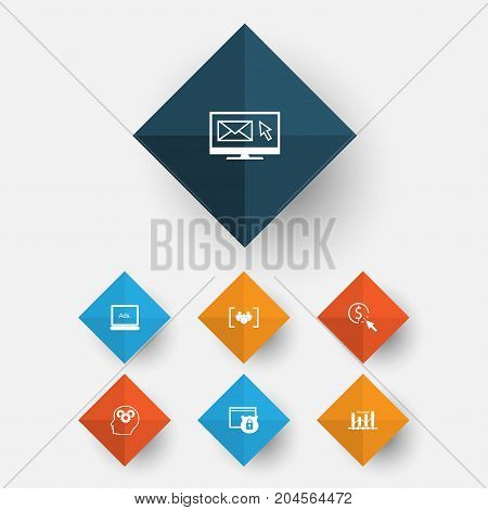 Marketing Icons Set. Collection Of Newsletter, Digital Media, Questionnaire And Other Elements