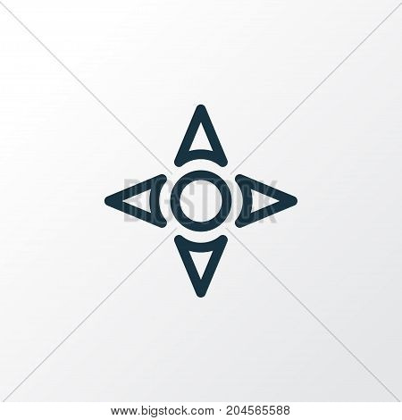 Premium Quality Isolated Arrow Element In Trendy Style.  Controller Outline Symbol.