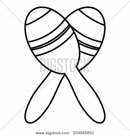 Mexican maracas icon. Outline illustration of mexican maracas vector icon for web design isolated on white background