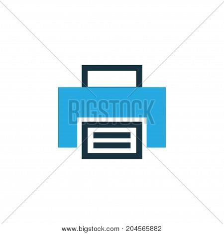 Premium Quality Isolated Printer Element In Trendy Style.  Print Colorful Icon Symbol.