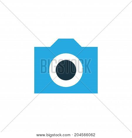 Premium Quality Isolated Photo Element In Trendy Style.  Camera Colorful Icon Symbol.