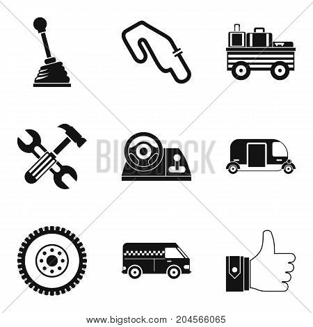 Ring race icons set. Simple set of 9 ring race vector icons for web isolated on white background