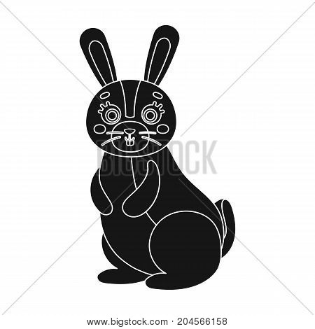 Hare, single icon in black style.Hare, vector symbol stock illustration .
