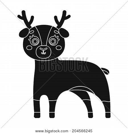 Deer, single icon in black style.Deer vector symbol stock illustration .