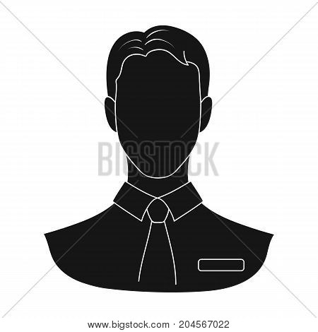 Person, single icon in black style.Person, vector symbol stock illustration .
