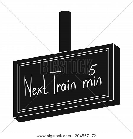 Signboard, single icon in black style.Signboard, vector symbol stock illustration .