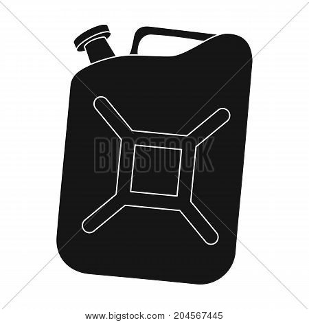Canister single icon in black style.Canister vector symbol stock illustration .