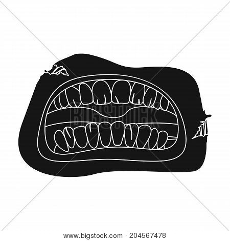 Root, single icon in black style.Root, vector symbol stock illustration .
