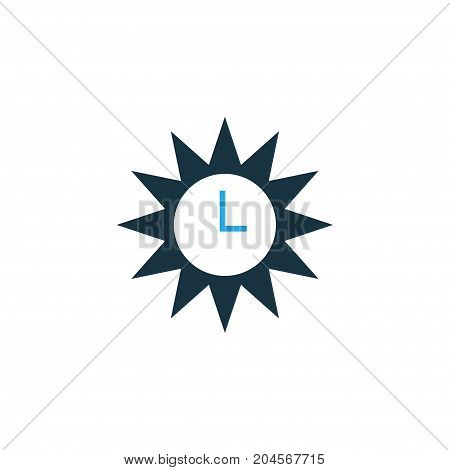 Premium Quality Isolated Clock Element In Trendy Style.  Azan Colorful Icon Symbol.