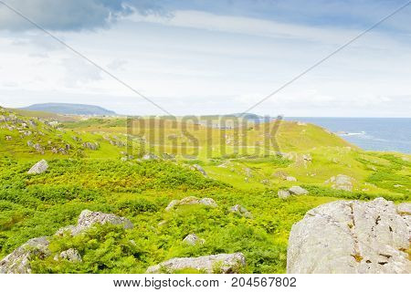 panorama highlands scotland moorland by the sea