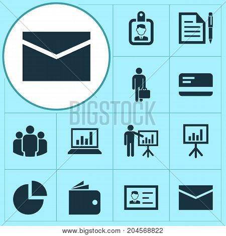 Business Icons Set. Collection Of Contract, Presentation Board, Payment And Other Elements