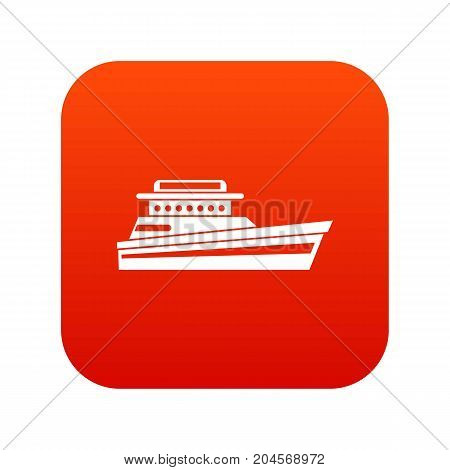 Great powerboat icon digital red for any design isolated on white vector illustration