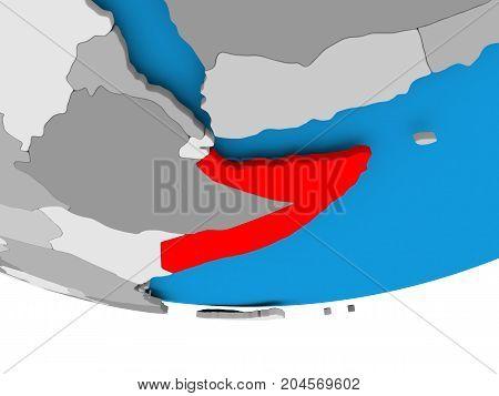 Somalia On Globe