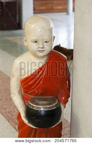 buddha boy statue safe donations asian holly