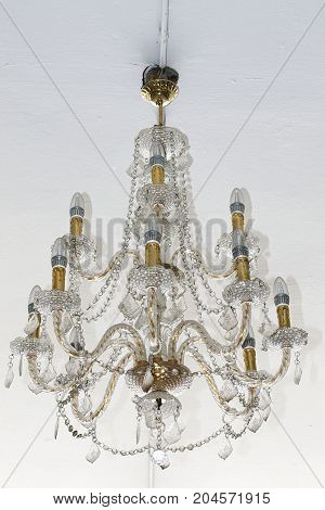 chandelier luxury crystal candle luminous vintage classic
