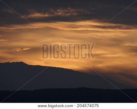 Spectacular Sunrise over Mauna Kea Volcano on the Big Island of Hawaii