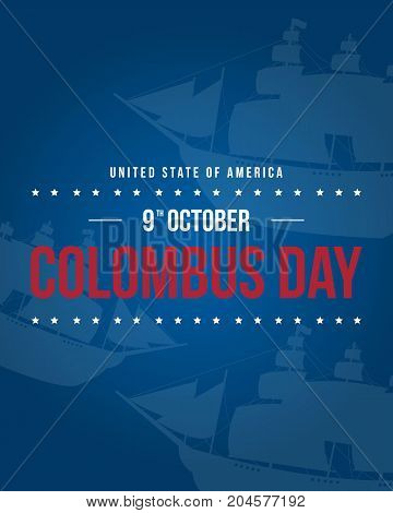 Columbus day background style collection vector illustration