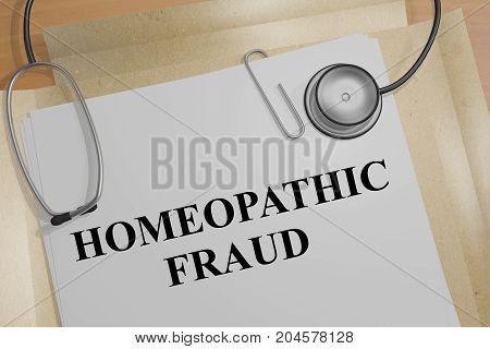 Homeopathic Fraud - Medical Concept
