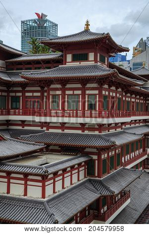 Buddha Tooth Relic Temple At China Town, Singapore