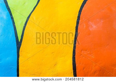 colorful paint cement wall or colorful background