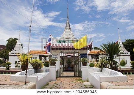 Chedi Of Wat Prot Ket Chettha Ram Temple In Samut Prakan, Thailand