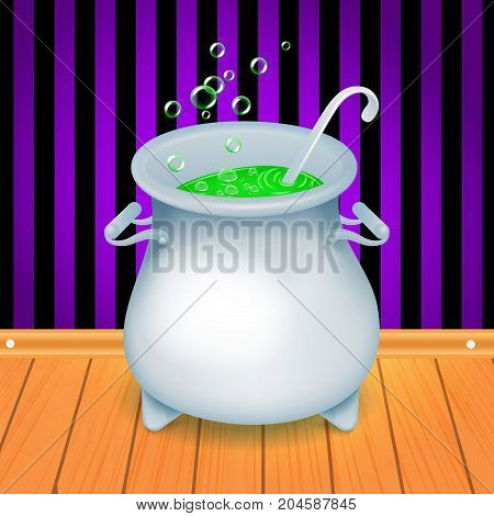 witch s cauldron with green bubbling witch s brew in it