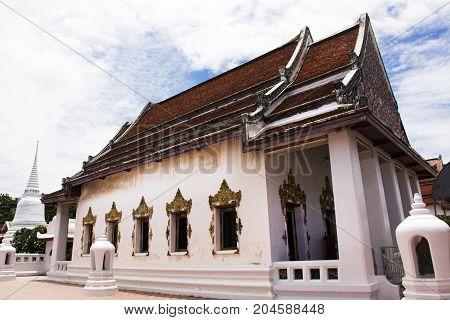 Wat Prot Ket Chettha Ram Temple In Samut Prakan, Thailand
