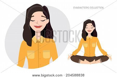 Beautiful young woman relax and enjoy. Modern trendy woman in casual sports style.