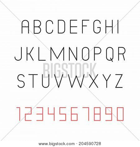 Thin font, Decorative font for books, posters, postcard, web hand drawn style typography