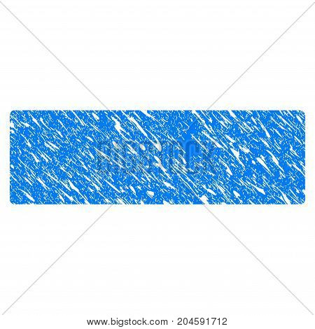 Grunge Remove icon with grunge design and unclean texture. Unclean vector blue remove pictogram for rubber seal stamp imitations and watermarks. Draft sign symbol.