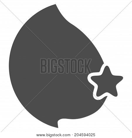 Censored Female Breast vector pictograph. Style is flat graphic gray symbol.