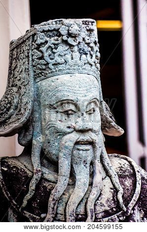 Chinese Stone Statue In The Past Statue Of Stone Art In Ancient Times Of Chinese Dynasties.