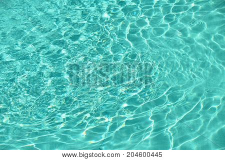 Teal Blue Pool Water With Ripples