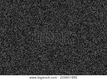 Abstract halftone random white dots vector horizontal pattern texture background. A4 paper size, vector illustration.