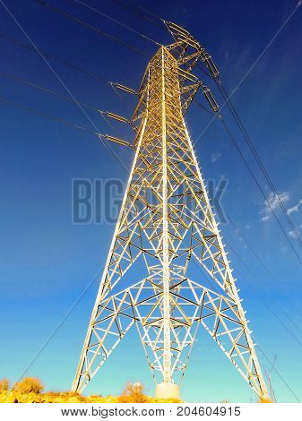 Pylon In Desert