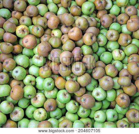 Background Of Many Green Apples