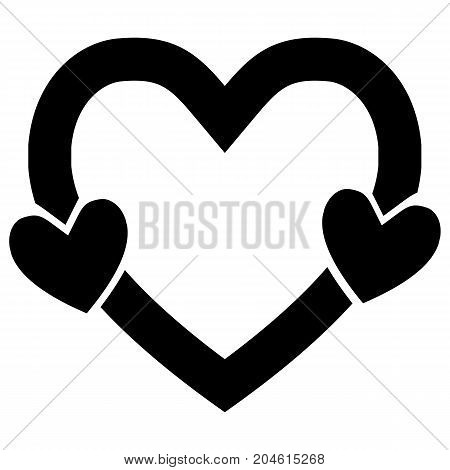 Black Heart Icon Emotion Symbol Pulse Trace