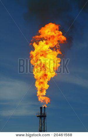Fire burned