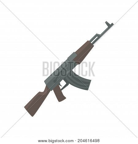 Russian assault rifle cartoon vector Illustration on a white background